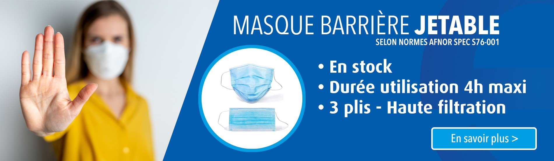 Masque barriere jetable